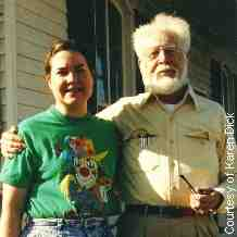 Karen Dick and father Franz Joseph in 1993